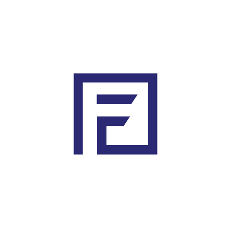 Letter F square logo icon design template elements. Logo initial letter F .