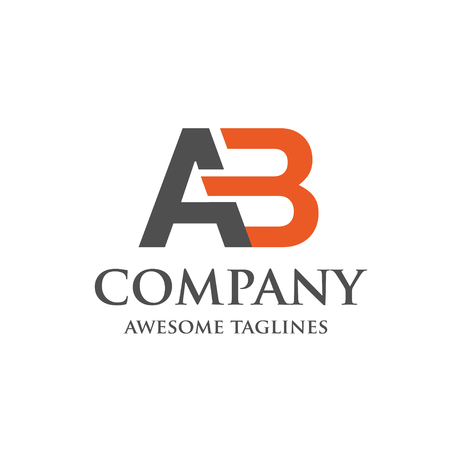 Creative letter AB logo. Abstract business logo design template. modern Letter AB Logo template editable for your business. Illustration