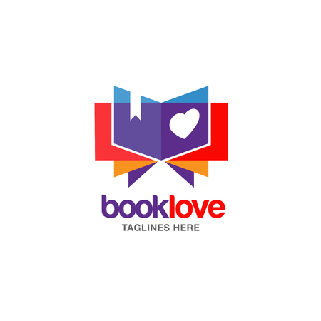Creative book lover book and heart.