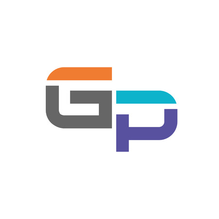 GP letter logo design vector illustration template, G letter logo vector, letter g and P logo vector, creative Letter GP letter logo Illustration