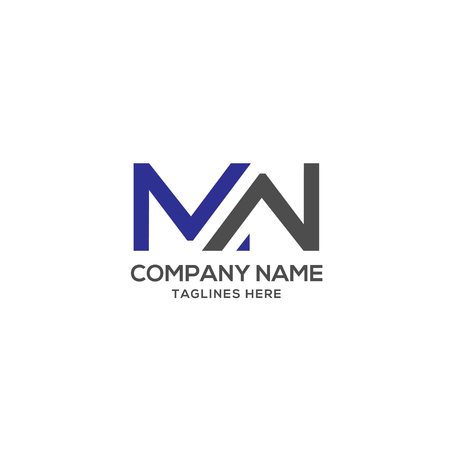 MW letter logo design vector illustration template, M letter logo vector, letter M and W logo vector Stock Illustratie