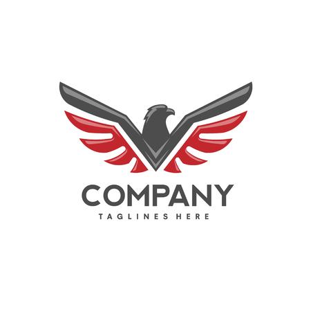 Adler Vogel Logo Vektor. Standard-Bild - 77140808
