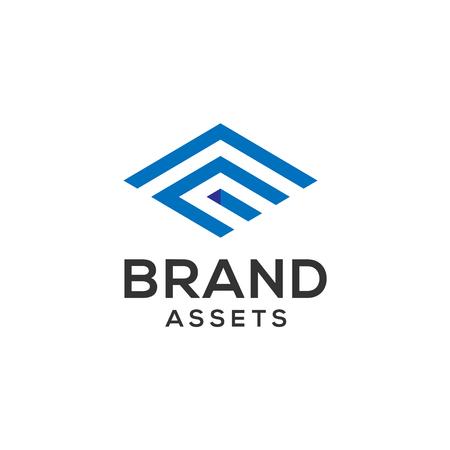 Lettre e construction business concept de logo Banque d'images - 95255062
