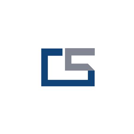 CS letter design vector illustration template, C letter vector, letter C and S vector, creative Letter CS letter Vectores