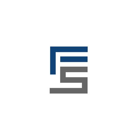 FS letter logo design vector illustration template,  letter FS logo vector, letter F and S logo vector, creative Letter FS letter logo Ilustração