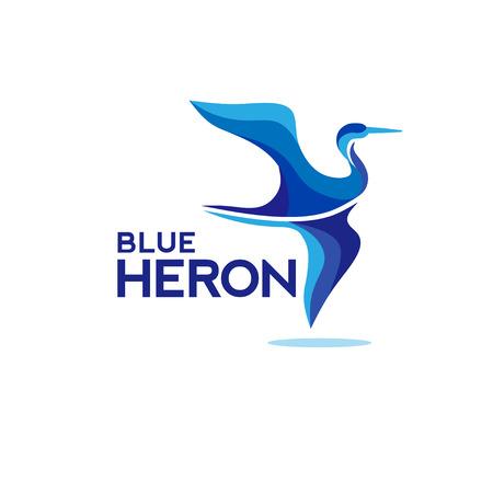 heron fly, crane, stork silhouette logo template, vector illustration,flying heron, crane, stork logo design