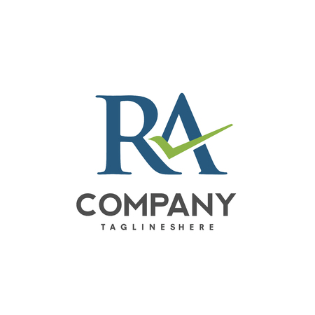 RA projekt logo litery szablon ilustracji wektorowych, litera R wektor logo, litera wektor logo R i A, twórczy list litera RA logo