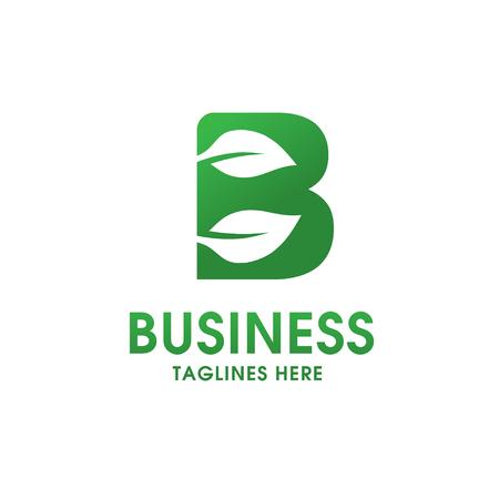 Eco-Logo des Buchstaben B lokalisiert auf weißem Hintergrund. Organisches Biozeichen mit einem Blatt des Sprösslingsgrases für Unternehmensart der Firma oder der Marke auf Buchstaben B Standard-Bild - 86202735