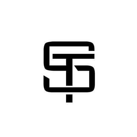 letter ST monogram logo design vector illustration template,, letter S and T logo vector, creative Letter ST letter logo