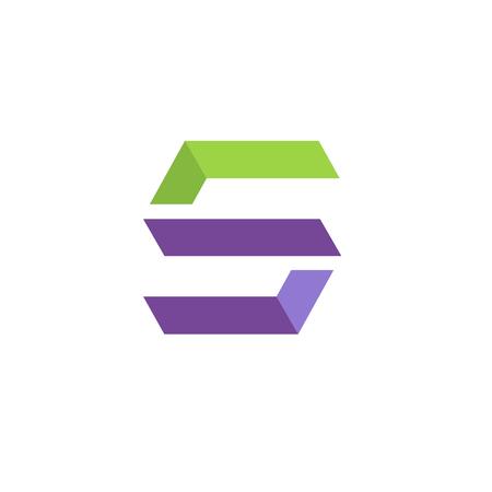 Letter S icon design. Ilustração