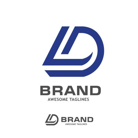 DL letter logo design vector illustration template,D letter logo vector, letter D and L logo vector, creative Letter DL letter logo