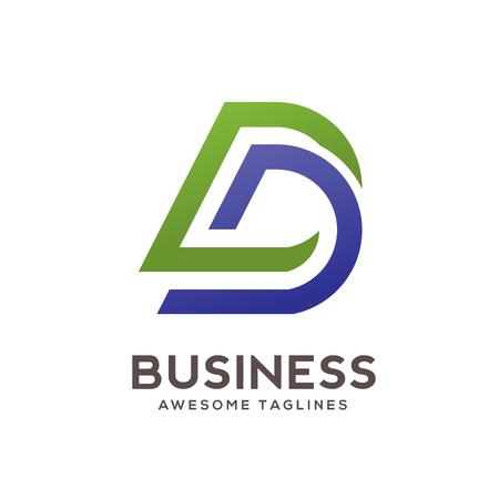 DD letter logo design vector illustration template,D letter logo vector, letter D and D logo vector, creative Letter DD letter logo