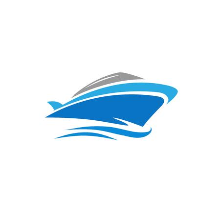 Yate de vector elegante y moderno, lancha, logotipo de la nave, vector logo de velero Foto de archivo - 89879441