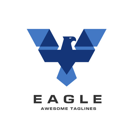 Eagle hoofd logo sjabloon, Hawk mascotte afbeelding, bald eagle vector logo, eagle technologie concept vector logo, eagle set van symbool logo, creatieve en moderne adelaar vogel logo vector Stock Illustratie