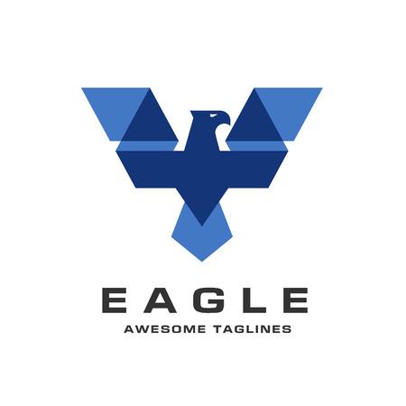 Eagle head logo Template, Hawk mascot graphic, bald eagle vector logo, eagle technology concept vector logo, eagle set of symbol logo, creative and modern eagle bird logo vector Illustration