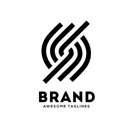 Letter S circle strips logo design template elements.