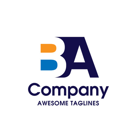 Creative Letter BA logo design elements. simple letter BA letter logo,Business corporate letter BA logo design vector. Simple and clean flat design of letter BA logo vector template.