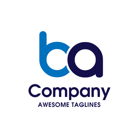 Creative Letter BA logo design elements. simple letter BA letter logo,Business corporate letter BA logo design vector. Simple and clean flat design of letter BA logo vector template.