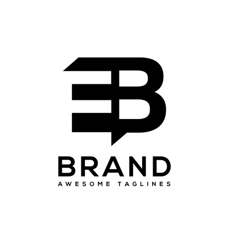 Creative Letter EB logo design black and white logo elements. simple letter EB letter logo,Business corporate letter EB logo design vector. Simple and clean flat design of letter EB logo vector template.