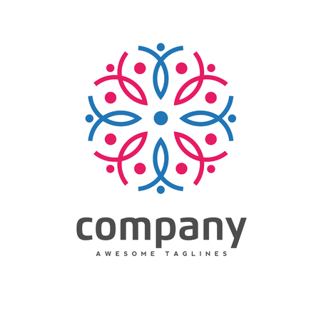 Concept of people activity and community logo set.Community no profit logo