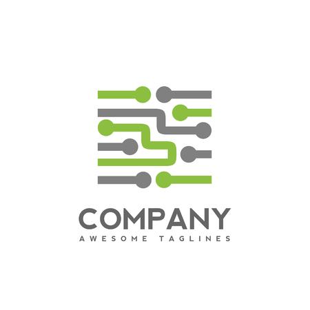 Digital electronics logo design, Creative electronic circuits logo vector, IT technology  concept