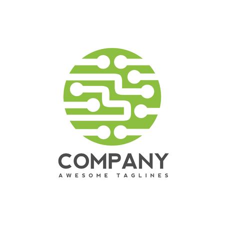 Digital electronics logo design, Creative electronic circuits logo vector, IT technology logo concept
