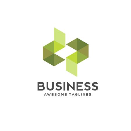 Letter dp colorful geometric logo. Logo initial letter dp Business corporate letter d logo design vector.