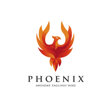 Luxury phoenix icon concept, best phoenix bird design vector icon.