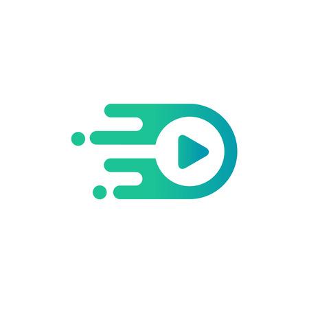 Media play logo vector simple modern concept ,Media logo sign,Play logo icon,Player logo icon. Multimedia logo icon, arrow circle logo.