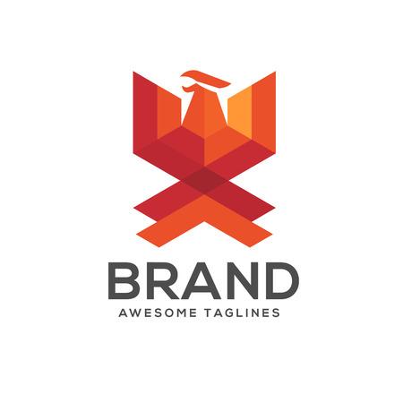 Phoenix modern geometric logo concept,best phoenix logo concept, luxury phoenix consulting element logo icon concept