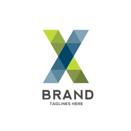 X letter geometric logo vector, creative letter X modern colorful letter logo , modern X letter IT logo, Letter X e-commerce logo
