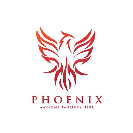 고급 피닉스 로고 개념, 최고의 피닉스 새 로고 디자인, 피닉스 벡터 로고, 신화 조류의 창조적 인 로고