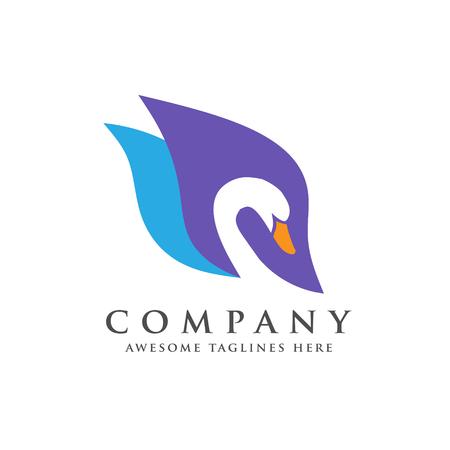 Creative and elegant swan icon vector design.