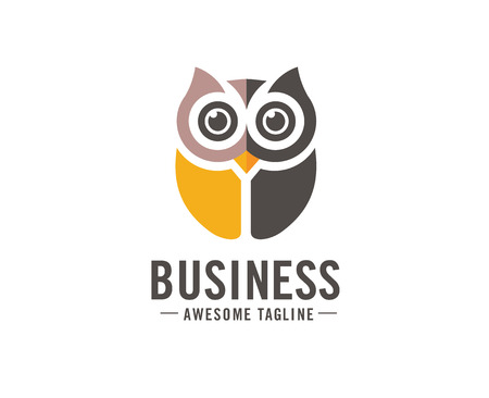 Owl logo vector in modern colorful logo design, Owl icon vector isolated on white background Stock Vector - 101918056
