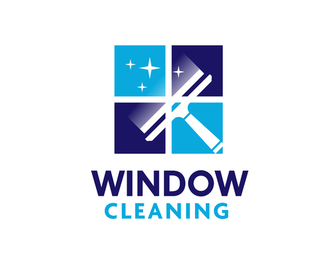 professional window cleaning washing service and household maintenance vector logo design