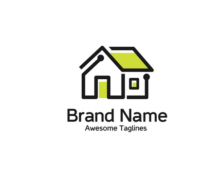 Vector illustration of smart home logo,  Home automation technology logo