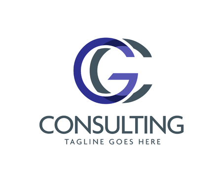 letter GC logo design vector illustration template, letter G and C logo vector