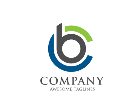 BC文字ロゴデザインベクトルイラストテンプレート、B文字ロゴベクトル、文字CとBロゴベクトル、クリエイティブレターBCレターロゴ