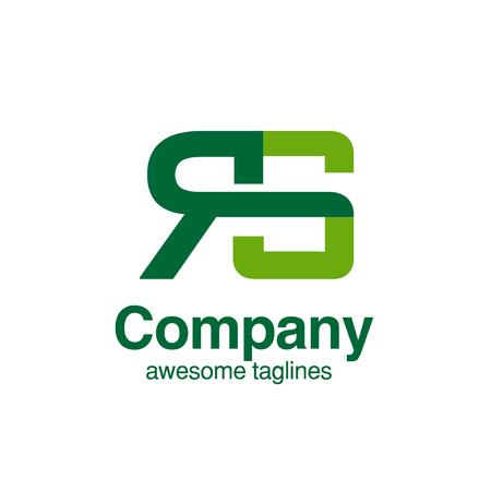 creative initial letter RS logo vector concept element Logó