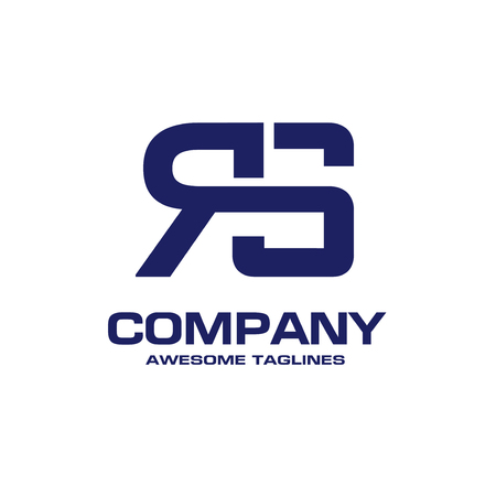 creative initial letter RS logo vector concept element