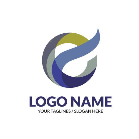 creative  modern elegant letter E logo concept, initial letter e colorful logo vector element Stock Illustratie