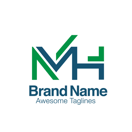 creative initial letter MH logo vector concept element
