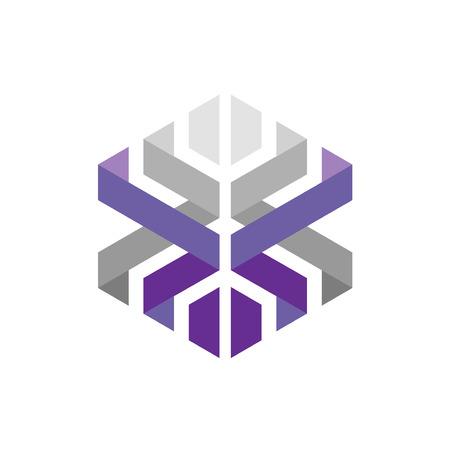 creative colorful vector concept Hexagon geometric polygonal logo.