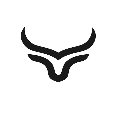 abstract simple Bull head vector logo concept illustration, Buffalo head logo, Bull head logo