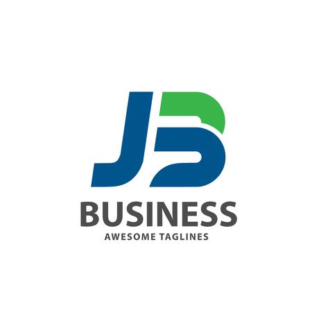 creative strong initial letter jb logo vector concept Logó
