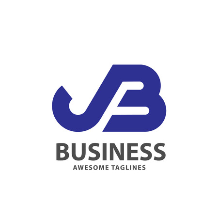 creative strong initial letter jb logo vector concept