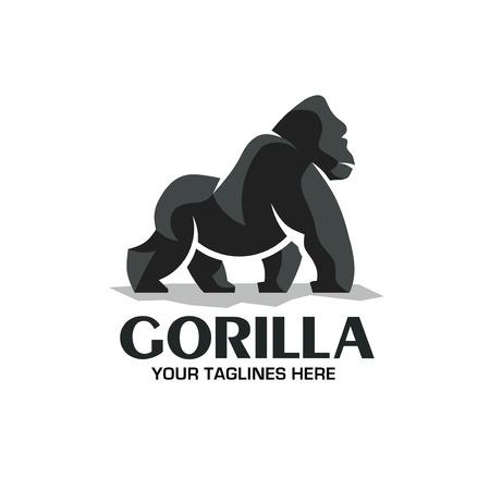 vector logo de gorila creativo y fuerte aislado sobre fondo blanco Logos