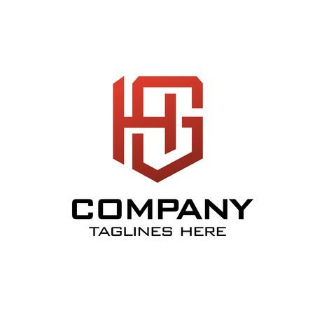 creative initial letter GH, GH as shield logo vector concept Logó
