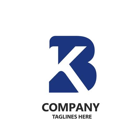 creative strong initial letter b and k logo vector concept Illusztráció