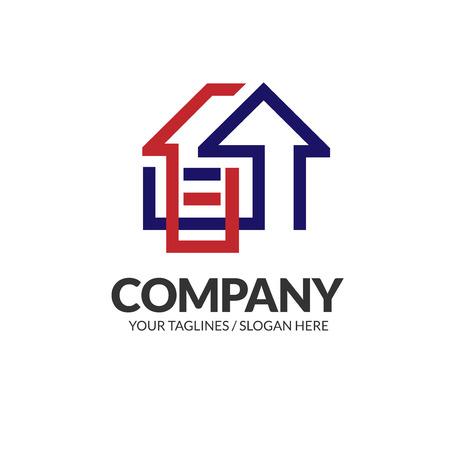 Logotipo creativo de bienes raíces, vector de diseño de logotipo de propiedad y construcción Logos
